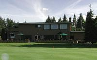 View of clubhouse from course side.